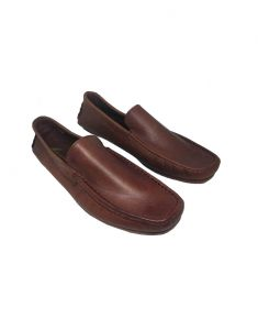 Footwear - JL Collections Men's Formal Brown Mocassin Shoe (Code - JL_MS_3488_DBR)