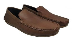 Footwear - JL Collections Men's Formal Brown Mocassin Shoe (Code - JL_MS_3488_LBR)
