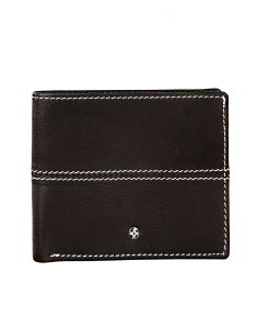 Jl Collections Mens Black Genuine Leather Wallet (9 Card Slots)