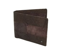 Jl Collections Mens Dark Brown Genuine Leather Wallet (6 Card Slots)