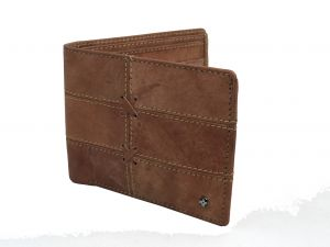 Jl Collections Mens Light Brown Genuine Leather Wallet (6 Card Slots)