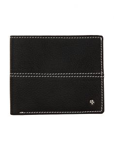 Wallets (Men's) - JL Collections Mens Black Genuine Leather Wallet (8 Card Slots)