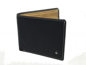 Jl Collections Mens Black Genuine Leather Wallet (6 Card Slots)