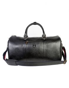 Jl Collections Leather 19 Inch Square Duffel Travel Bag