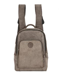 Bags - JL Collections Womens Leather Grey Backpack (Code - JLBPU_3448)