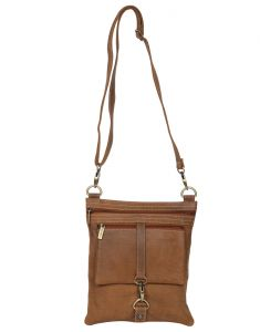 Jl Collections Brown Women's Leather Sling Bag