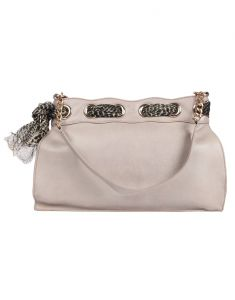 Jl Collections Women's Leather White Shoulder Bag