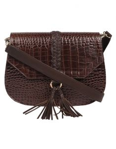 Jl Collections Women's Leather Brown Shoulder Sling Bag