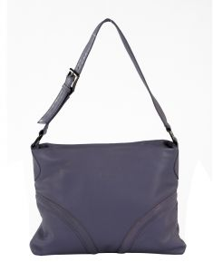 Jl Collections Women's Leather Lavender Shoulder Bag