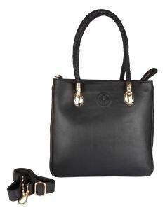 Women's Clothing ,Women's Accessories ,Womens Footwear  - Jl Collections Women's Leather Black Shoulder Bag