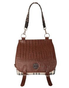 Jl Collections Women's Leather Brown Shoulder Bag