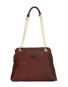 Jl Collections Womens Leather Brown Shoulder Bag (code - Jlfb_3439)