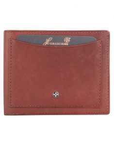 Jl Collections 6 Card Slots Black And Brown Men