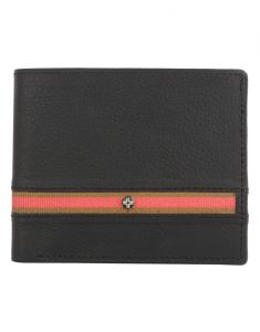 Jl Collections 6 Card Slots Black And Burgundy Men