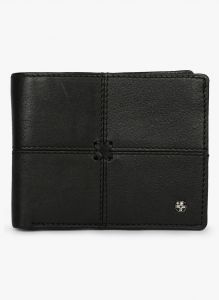 Jl Collections Mens Black Genuine Leather Wallet (8 Card Slots)