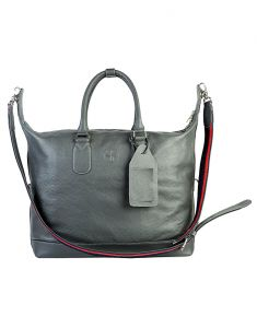Women's Clothing - Jl Collections Women's Leather Grey Tote Bag