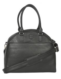 Jl Collections Women's Leather Black Tote Bag