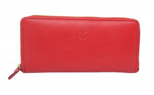 Jl Collections Women Genuine Leather Wallet (12 Card Slots)