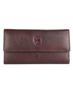 Clutches - JL Collections Women's Leather Dark Brown Clutch