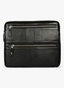 Planners, Organizers - JL Collections Black Leather document Holder (Product Code - LI-3398)