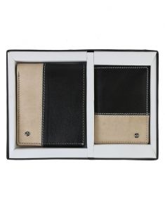 Jlcollections 12 Card Slots Black & Beige Men
