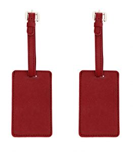 Jl Collections Personalized Polyurethane (pu) Luggage Tags For Suitcases And Bags - Best Gift For Travelers (pack Of 2) (code - Jl_lt_per)