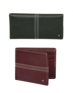 Jl Collections Green & Burgundy Men