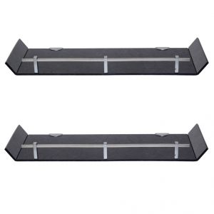 Mercebull 18x6 Inch Black Marble Designed Acrylic Wall Shelf - Combo Of 2