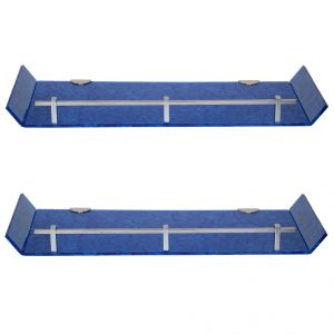 Mercebull 18x6 Inch Blue Marble Designed Acrylic Wall Shelf - Combo Of 2