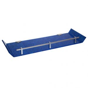 Mercebull 18x6 Inch Blue Marble Designed Acrylic Wall Shelf