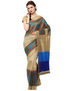 Polyester Sarees - Sudarshan Silks Multicolor Bhagalpuri Saree Sp_msd2
