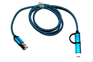 Datacables for mobile - Samshi 2 In 1 Data Cable_blue