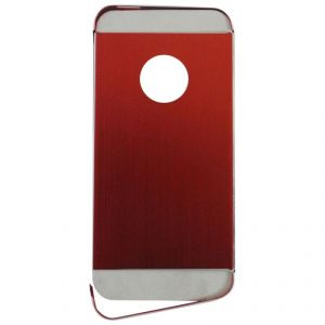 Samshi Metal Back Case Cover For Apple iPhone 5 - Red
