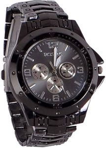 Watches For - Male Round Stainless Steel Analogue Black Dial And Black Band-rosra