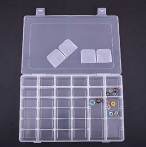 Jewellery Boxes - ININDIA Adjustable Multipurpose Plastic Storage Box for Jewellery Medicine Pills Tools - Ultra Large