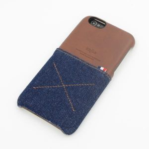 Carry cases and pouches for mobile - ININDIA Genuine Kajsa Case For iPhone (Denim Styled)- Royal Blue