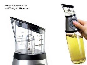 Inindia Buttoned Oil And Vinegar Dispenser Cum Measurer