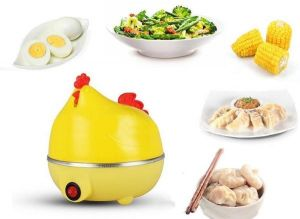 Inindia Stylish Hen Shaped Egg Boiler Cum Steamer - Can Be Used For Vegetables