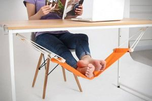 Inindia Mini Office Foot Rest Stand Adjustable Desk Feet Hammock