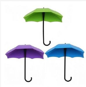 Inindia Umbrella Key Hat Wall Multipurpose Holder Hanger Hooks ( Set Of 3 Pieces)