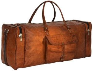 Inindia Brown Leather Duffel Bag 22 Inch/55 Cm (expandable) (brown)