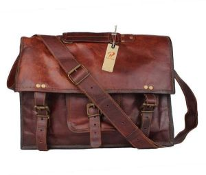 Inindia Genuine Leather Messenger Bag (brown)bag_9*11inch