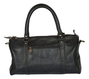 Inindia Leather Black Softsided Travel Duffle Bag