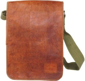 Inindia Messenger Bag (green, Brown)bag_10*13inch