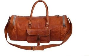 Inindia Pure Leather 20 Inch/50 Cm (expandable) (brown)
