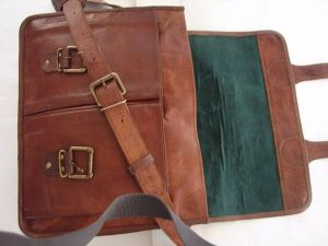 Inindia Pure Leather Unisex Office Formal Travel Brown Laptop Messenger Bag (bag_9*11inch