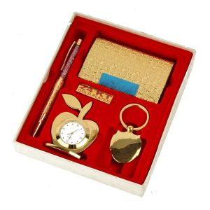 Inindia Gold Plated(24k) Gift Items Hamper Set ( 4 In 1 )