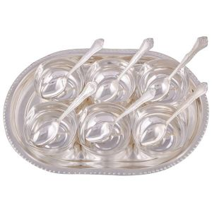 Brass Handicrafts - IN INDEA  Silver Plated  Set of 6 Serving Bowls