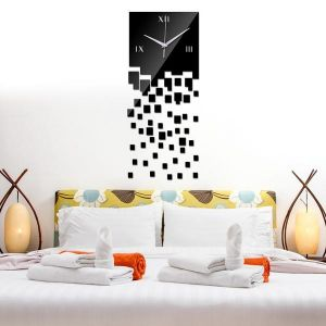 Inindia Dropping Crystal Effect 3d Wall Clock Vinyl