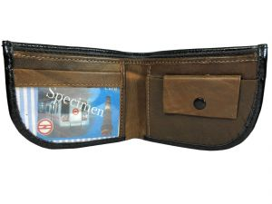 Apki Needs Stylish, Designer, Textured, Curvy Bi Fold Black Men Wallet